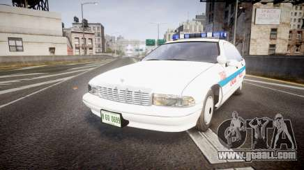 Chevrolet Caprice Chicago Police [ELS] for GTA 4