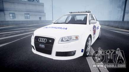 Audi RS4 Serbian Police [ELS] for GTA 4