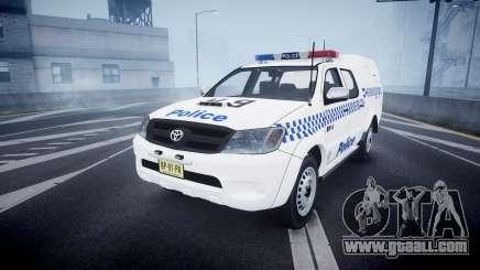 Toyota Hilux NSWPF [ELS] scoop for GTA 4