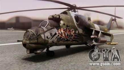 Mil Mi-24V Czech Air Force Tigermeet for GTA San Andreas