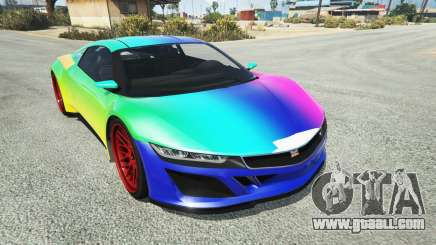 Dinka Jester (Racecar) Rainbow for GTA 5