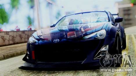Toyota GT86 for GTA San Andreas back left view