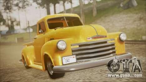 Chevrolet 3100 Truck 1951 for GTA San Andreas