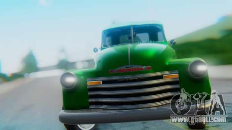 Chevrolet 3100 1951 Work for GTA San Andreas back view