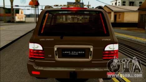 Toyota Land Cruiser Cygnus for GTA San Andreas back left view
