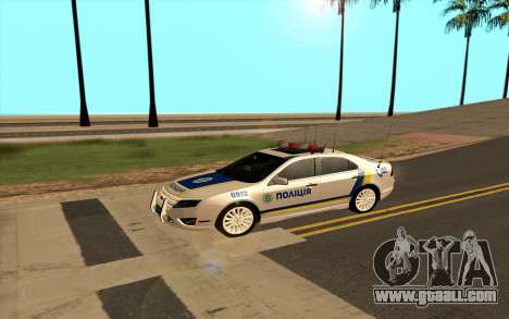 Ford Taurus Ukraine Police for GTA San Andreas left view