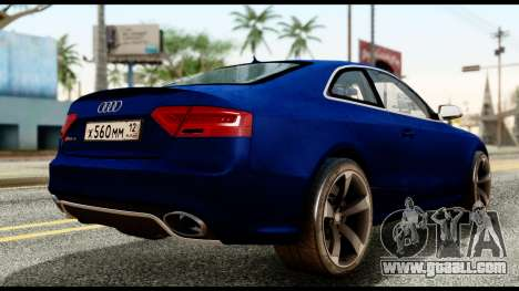 Audi RS5 2012 for GTA San Andreas left view
