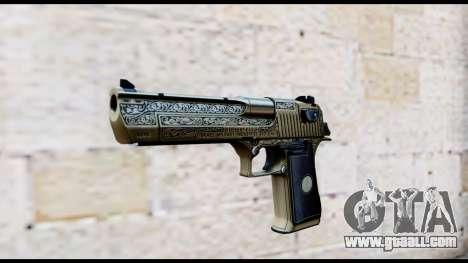 Golden Engraved Desert Eagle for GTA San Andreas