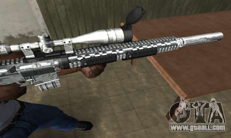 Full Silver Sniper Rifle for GTA San Andreas second screenshot