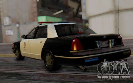 Ford Crown Victoria LSPD for GTA San Andreas left view