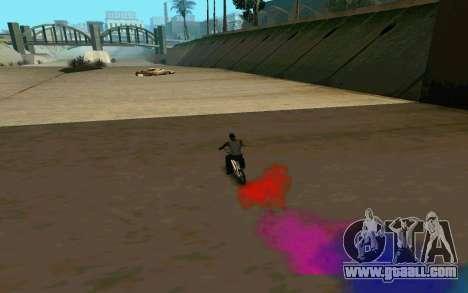 Bike Smoke for GTA San Andreas fifth screenshot