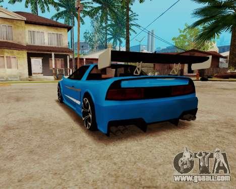 Infernus Lamborghini for GTA San Andreas back left view