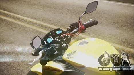 Honda CB650F Amarela for GTA San Andreas back left view