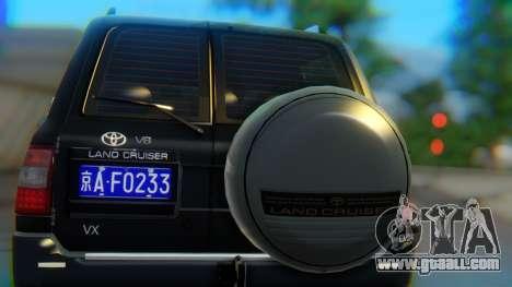Toyota Land Cruiser 105 for GTA San Andreas inner view