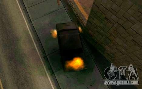 Burning car mod from GTA 4 for GTA San Andreas third screenshot