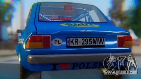 Zastava 1100P Rally for GTA San Andreas inner view