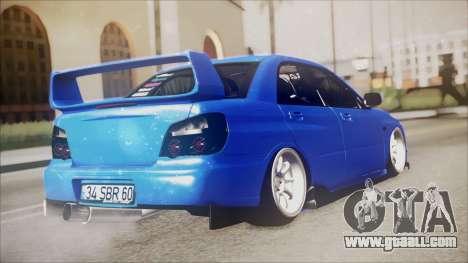 Subaru Impreza WRX STI B. O. Construction for GTA San Andreas left view
