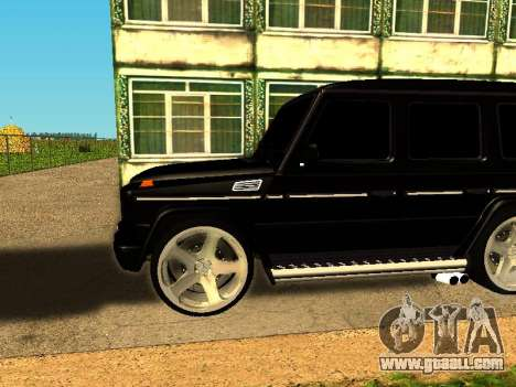 Mercedes-Benz G 320 for GTA San Andreas back left view