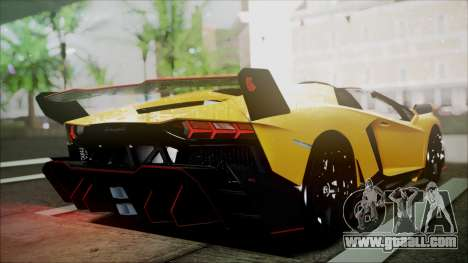 Lamborghini Veneno LP700-4 AVSM Roadster Version for GTA San Andreas back left view