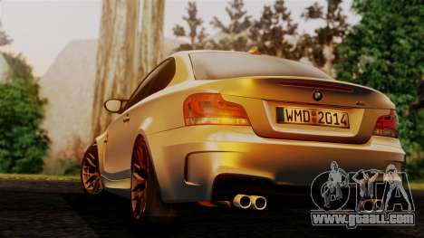 BMW 1M E82 v2 for GTA San Andreas left view