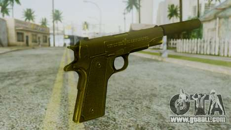 Silenced M1911 Pistol for GTA San Andreas second screenshot