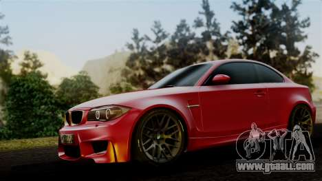 BMW 1M E82 v2 for GTA San Andreas back left view