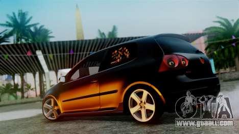Volkswagen Golf Mk5 for GTA San Andreas inner view