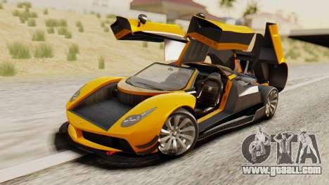 Pegassi Osyra Full Extras for GTA San Andreas inner view