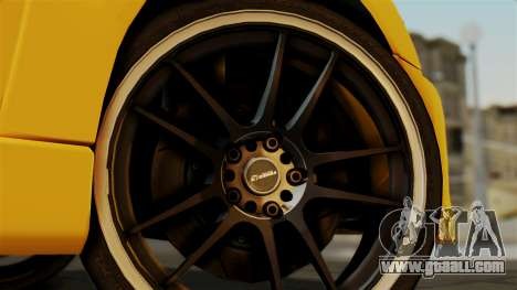 Mitsubishi Lancer Evolution 2015 for GTA San Andreas back left view