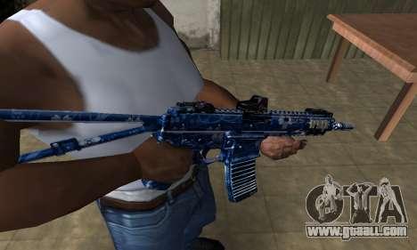 Blue Life M4 for GTA San Andreas
