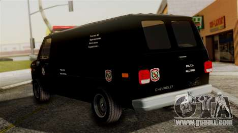 Chevrolet Chevy Van G20 Paraguay Police for GTA San Andreas left view