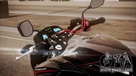 Honda CB650F Pretona for GTA San Andreas back view