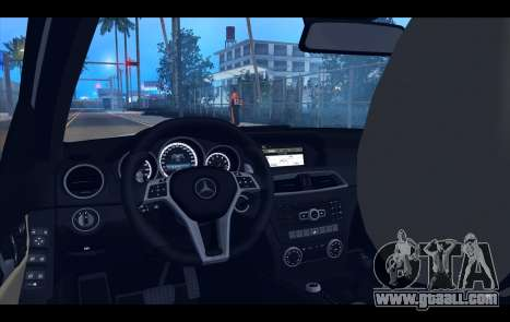 Mercedes-Benz C63 AMG 2013 for GTA San Andreas interior