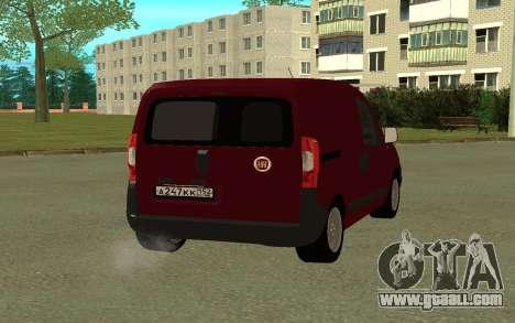 Fiat Fiorino for GTA San Andreas back left view