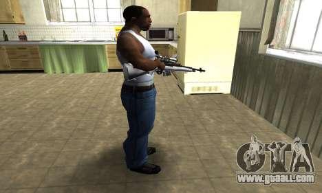 Silver Sniper Rifle for GTA San Andreas third screenshot