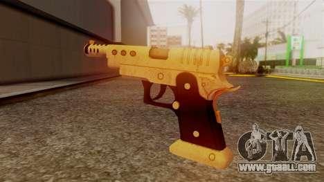 Chrome Hammer Pistol for GTA San Andreas second screenshot