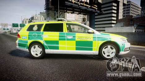 Volkswagen Passat B7 North West Ambulance [ELS] for GTA 4 left view