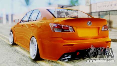 Lexus IS F for GTA San Andreas left view