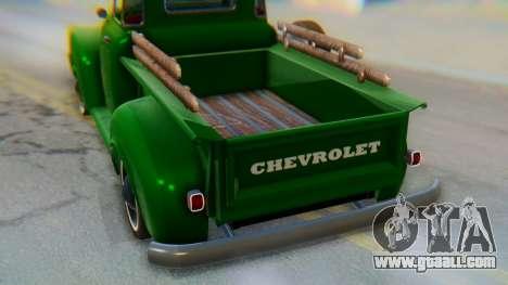 Chevrolet 3100 1951 Work for GTA San Andreas inner view