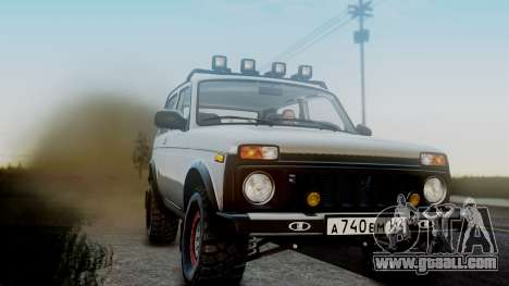 VAZ 2121 Niva 4x4 for GTA San Andreas back view