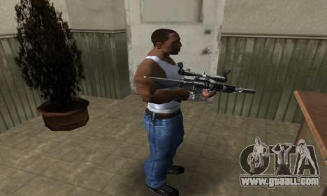 Full Silver Sniper Rifle for GTA San Andreas third screenshot