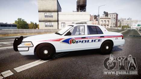 Ford Crown Victoria Bohan Police [ELS] for GTA 4 left view