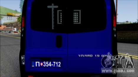 Opel Vivaro Policija for GTA San Andreas inner view