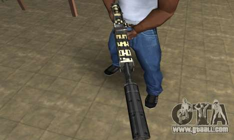 Gold Lines Combat Shotgun for GTA San Andreas second screenshot