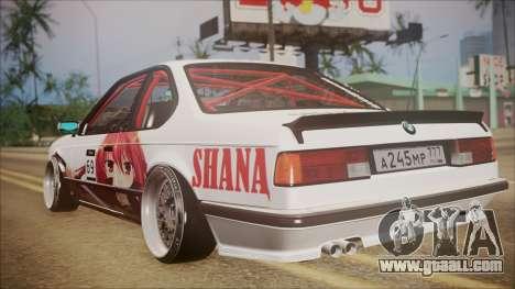 BMW E24 Shakugan No Shana Itasha for GTA San Andreas back left view