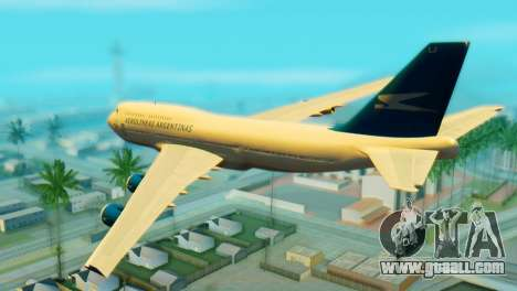 Boeing 747 Argentina Airlines for GTA San Andreas left view