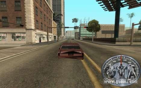 Iron speedometer for GTA San Andreas third screenshot