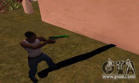 Deagle Green Style for GTA San Andreas third screenshot