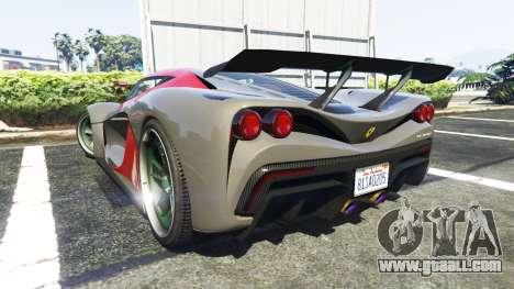 GTA 5 Grotti Turismo R La Ferrari rear left side view