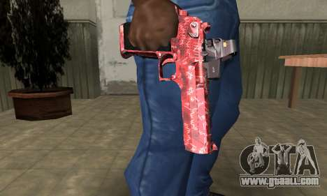 Red Chest Deagle for GTA San Andreas second screenshot